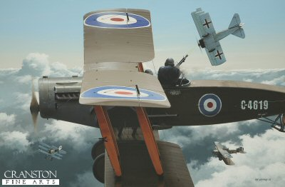 Deadly Partnership - Captain W E Staton and Lieutenant John R Gordon, Bristol F.2b by Ivan Berryman.