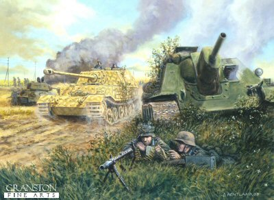 The Battle for Ponyri Station, Kursk, 9th July 1943 by David Pentland. (PC)