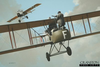 Tribute to the Air Gunners - Royal Aircraft Establishment FE2 by Ivan Berryman. (P)