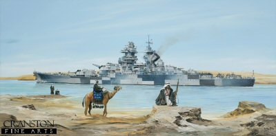 Richelieu in the Suez Canal by Randall Wilson. (GS)