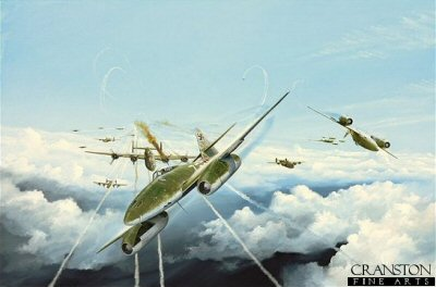 Me262 1As of 3rd Gruppe JG7 by Randall Wilson. (GL)