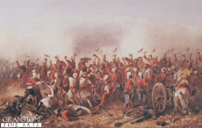 The Charge of the 16th Lancers, at the Battle of Aliwal, by Orlando Norie.
