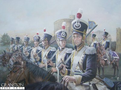 13th Light Dragoons at Windsor Castle by Chris Collingwood. (GL)