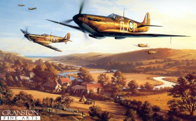 DHM1628B. September Victory by Nicolas Trudgian. <p> Spitfires pass above a downed Me110 as they return to base at Biggin Hill in September 1940, the most intense and crucial phase of the Battle of Britain. <p><b>Last 3 prints remaining. </b><b><p> Signed by Squadron Leader Geoffrey Wellum DFC, <br>Tony Pickering AFC, <br>Group Captain Brian Kingcome DSO DFC (deceased), <br>Wing Commander Ken W MacKenzie (deceased), <br>Air Commodore James Leathart (deceased), <br>Air Commodore Sir Archie Winskill KCVO CBE DFC AE (deceased), <br>Squadron Leader Jocelyn G P Millard (deceased), <br>Group Captain Tom Dalton Morgan DSO, DFC*, OBE (deceased), <br>Wing Commander Wilfred M Sizer DFC* (deceased), <br>Vivian Snell (deceased), <br>Flight Lieutenant William Walker (deceased), <br>Squadron Leader Basil Stapleton DFC (deceased) <br>and <br>Air Commodore Alan Deere DSO DFC* (deceased). <p> Signed limited edition of 40 publishers proofs. <p> Paper size 33 inches x 24 inches (85cm x 61cm)