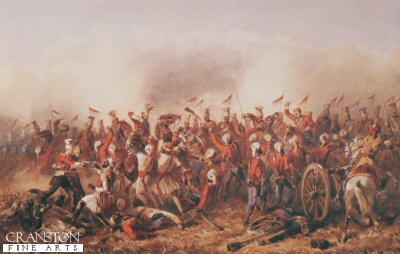 The Death of Cornet Bigoe, during the Battle of Aliwal, by Orlando Norie.