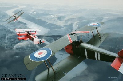 Captain Roy Brown engages the Red Baron, 21st April 1918�by Ivan Berryman.