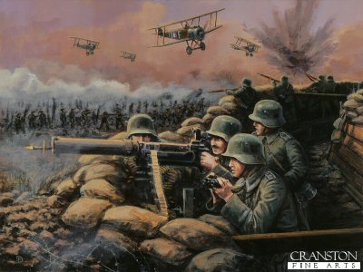 The Machine Guns - Battle of Amiens, France, 8th August 1918 by David Pentland.