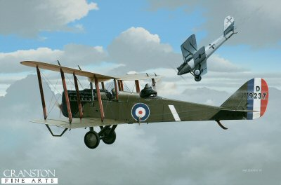 Captain Euan Dickson and AGL V Robinson, DH.4 by Ivan Berryman.