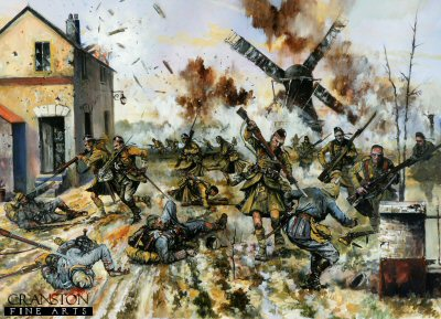 Cameron Highlanders Capture a German Force on the Yser by Jason Askew. (PC)