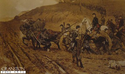 Bringing Up the Guns by Gilbert Gaul.