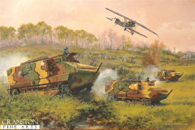 Tanks on the Marne - France, 18th July 1918 by David Pentland. (P)