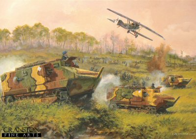 Tanks on the Marne - France, 18th July 1918 by David Pentland. (PC)