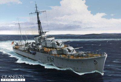 HMS Matchless by Ivan Berryman. (GS)