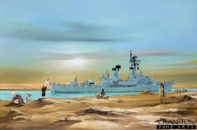 HMAS Perth, Suez Canal by Randall Wilson. (GL)