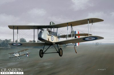 DHM1756B. Major Arthur Coningham by Ivan Berryman. <p> Australian by birth and serving with the New Zealand army in the middle east at the outbreak of World War 1, Arthur Coningham joined the RFC in 1917 and was posted to 32 Squadron, flying DH.2s, as depicted here. It was in such a machine that Coningham scored the first of his 14 victories, sending down a German two seater over Ervillers. He survived the war and was made AOC Desert Air Force in 1941 before taking command of 2nd Tactical Air Force until the Second World War&#39;s end whereupon he became Air Marshal and was awarded a knighthood. He died in January 1948.<b><p>Small limited edition of 50 prints. <p> Image size 12 inches x 8 inches (31cm x 20cm)