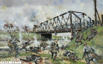 German Assault on the Nimy Bridge, Mons, 23rd August 1914 by Jason Askew.