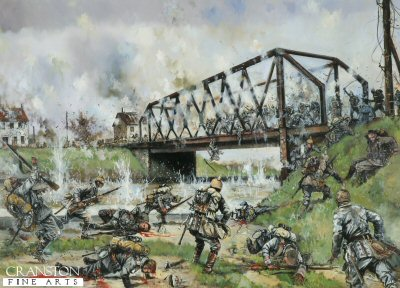 German Assault on the Nimy Bridge, Mons, 23rd August 1914 by Jason Askew. (PC)