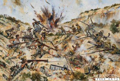 2nd Australian Brigade fighting in Gully Ravine by Jason Askew.
