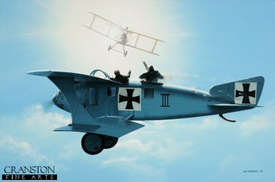 Out Of The Sun - LFG Roland C.II by Ivan Berryman.