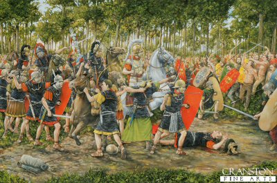 The Battle of Teutoburg Forest, AD 9 by Brian Palmer.