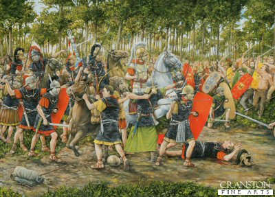 The Battle of Teutoburg Forest, AD 9 by Brian Palmer. (PC)