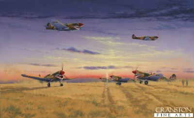 Kittyhawks of No.112 Squadron by Graeme Lothian. (B)