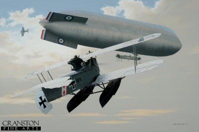 Hansa Brandenburg W.12 - Attack on the C.17 by Ivan Berryman. (P)