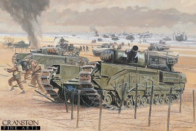Gold Beach, Normandy, 6th June 1944 by David Pentland.