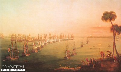 Battle of the Nile, 1st August 1798 by Nicholas Pocock (B)