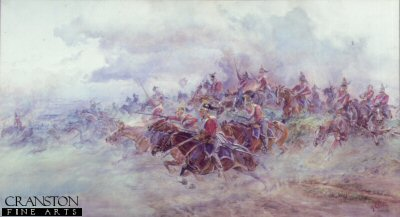Charge of the 6th Inniskilling Dragoons at Waterloo by Lady Elizabeth Butler. (XX)