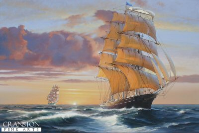 Cutty Sark and Thermopylae by Ivan Berryman.