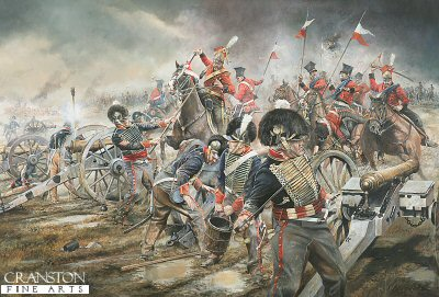 The Charge of the Red Lancers on Mercers Troop of Royal Horse Artillery by Chris Collingwood. (GM)