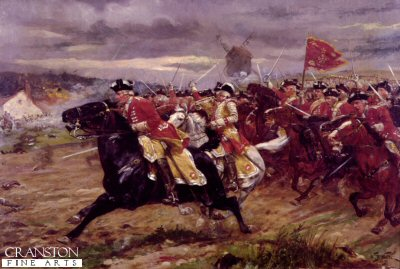 The Charge of the 6th Inniskilling Dragoons at Tolnay by William Barnes Wollen. (Y)