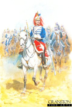 Trumpeter of the French Cuirassiers Going to Battle by Edouard Detaille (GL)