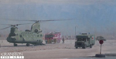 MERT Arriving at Camp Bastion by Graeme Lothian.
