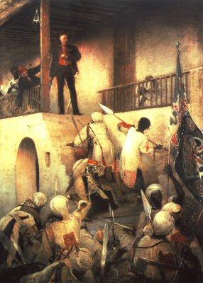 General Gordons Last Stand, Khartoum 26th January 1885 by George William Joy.