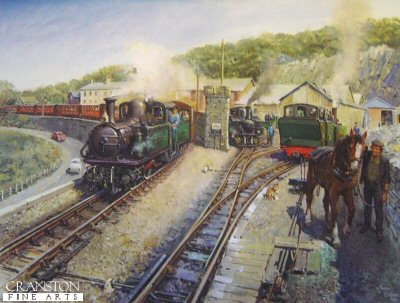 Festiniog Workhorses by Terence Cuneo.
