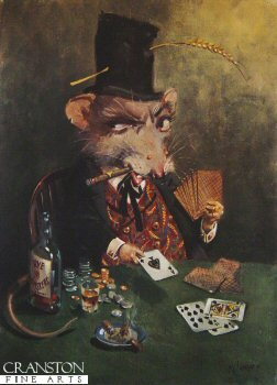 The Rt Hon Percy Blue Vinney OGM, Master Gambler at the Scalded Cat Saloon and The Black Mouse of the Family by Terence Cuneo.