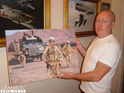 Military and aviation arist David Pentland.  His entire range of German armour and other military forces are available at great discounted prices direct from The Military Art Company