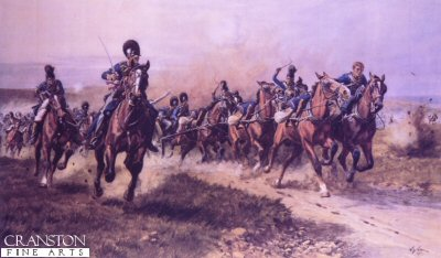 Fuentos Onoro, May 5th 1811 (Ramsays Battery of Horse Artillery) by William Barnes Wollen (B)