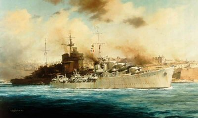 HMS Kelly by Robert Taylor.