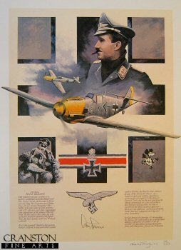 Fighter Legend - Adolf Galland by Nicolas Trudgian.