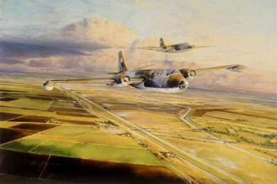 Canberras Over Cambridgeshire by Robert Taylor.