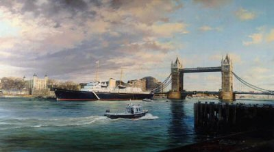 Royal Yacht Britannia by Robert Taylor.