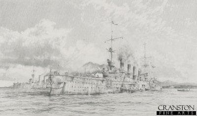 Scharnhorst at Anchor by Robert Taylor.