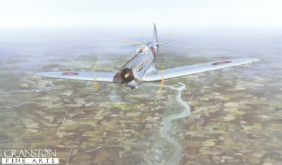 DHM2191. Mission Accomplished by Philip West. <p>17th May 1943, Sqn Ldr Frank (Jerry) Fray in his Spitfire PRX1 of 542 Squadron operating out of RAF Benson, Oxfordshire, returned alone and unarmed to gather photographic evidence from 30,000 feet of the M&#246;hne dam having been breached earlier the same day by 617 Squadron Lancaster bombers.<b><p>Signed by Flying Officer (Acting Flt/Lt) Bill Anderson,  Air Marshall Sir Alfred (Freddy) Ball, KCB DSO DFC, <br>Flying Officer Arthur H Brace, <br>Wing Commander James Gordon Cole DFC, <br>Wing Commander Edward (Tim) Fairhurst DFC (deceased), <br>Sqn. Ldr. Frank (Jerry) Frank DFC, <br>P/O Peter Harding (deceased), <br>Flt/Lt Julian Lowe DFC, <br>Flight Lieutenant Gwyn Parry DFC, <br>F/Lt Ray Raby, <br>Squadron Leader T.N. Rosser OBE DFC, <br>Flt/Lt Jimmy Taylor <br>and <br>Fl/Lt G A White. <p>Signed limited edition of 150 prints. <p> Paper size 28 inches x 20 inches (71cm x 51cm)