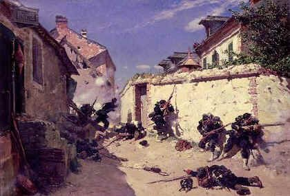 Surprise attack in the Suburbs of Metz by Alphonse de Neuville. (GS)