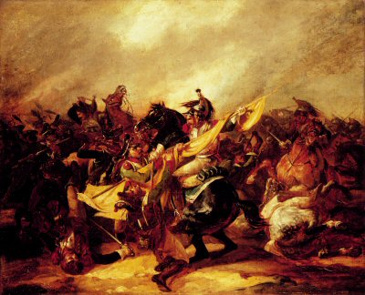 A Cavalry Skirmish by Theodore Gericault.