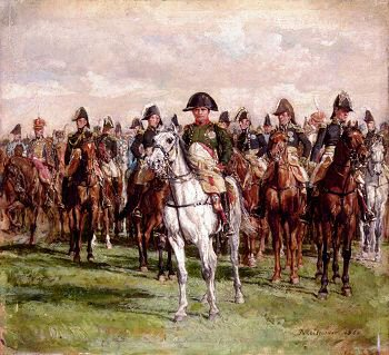 Napoleon and his Staff by Jean Louis Ernest Meissonier. (XX)