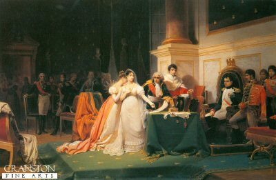 DHM233B.  Divorce of Empress Josephine by H Schopin. <b><p>Open edition print. <p> Image size 12 inches x 8 inches (31cm x 20cm)